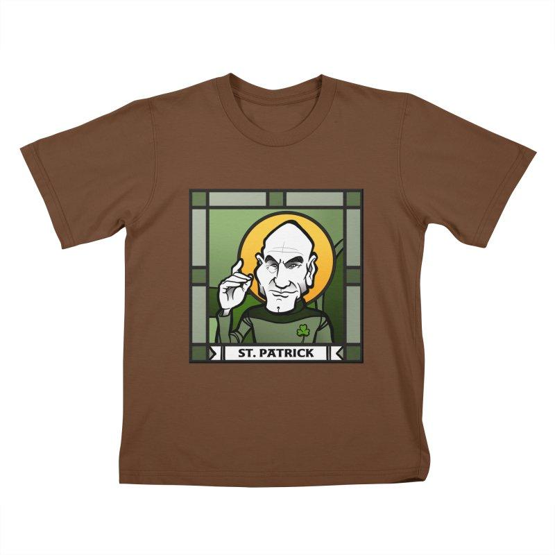 St. Patrick Kids T-Shirt by binarygod's Artist Shop