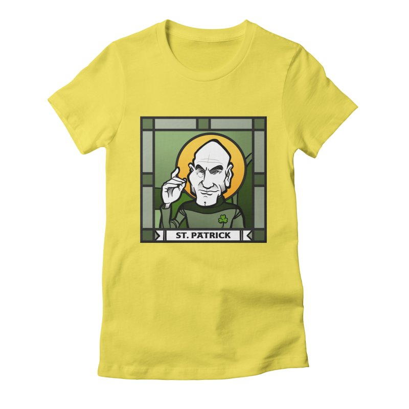 St. Patrick Women's Fitted T-Shirt by binarygod's Artist Shop