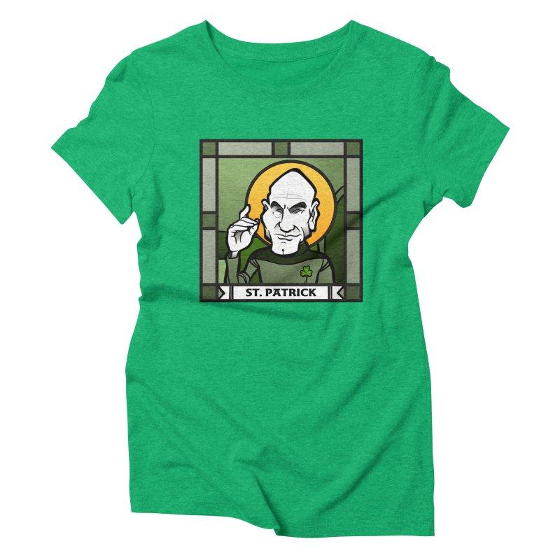 St. Patrick Women's Triblend T-shirt by binarygod's Artist Shop