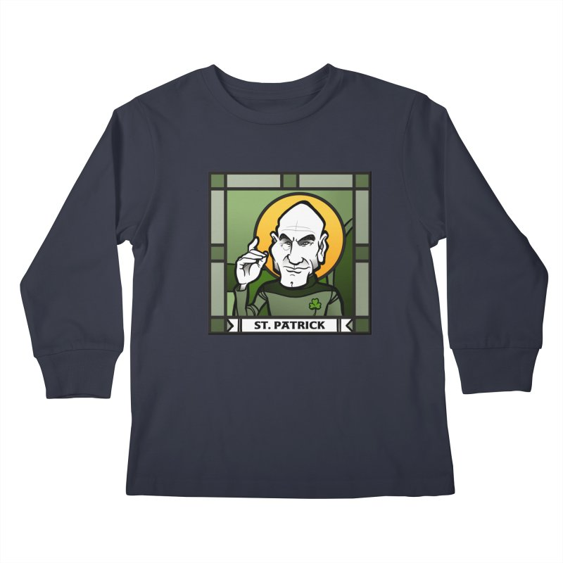 St. Patrick Kids Longsleeve T-Shirt by binarygod's Artist Shop