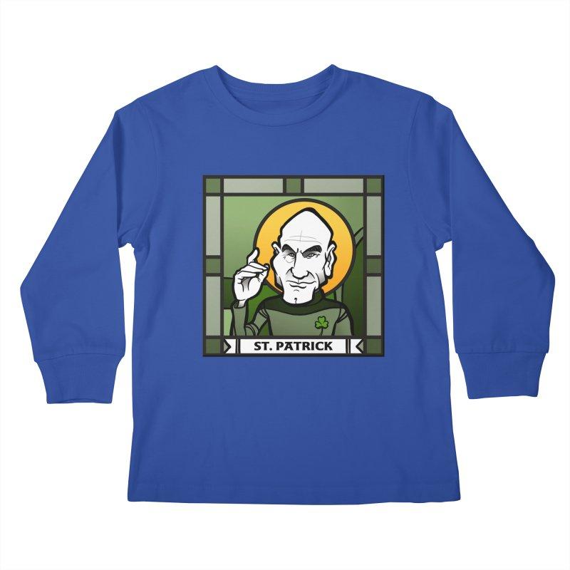 St. Patrick Kids Longsleeve T-Shirt by binarygod's Artist Shop