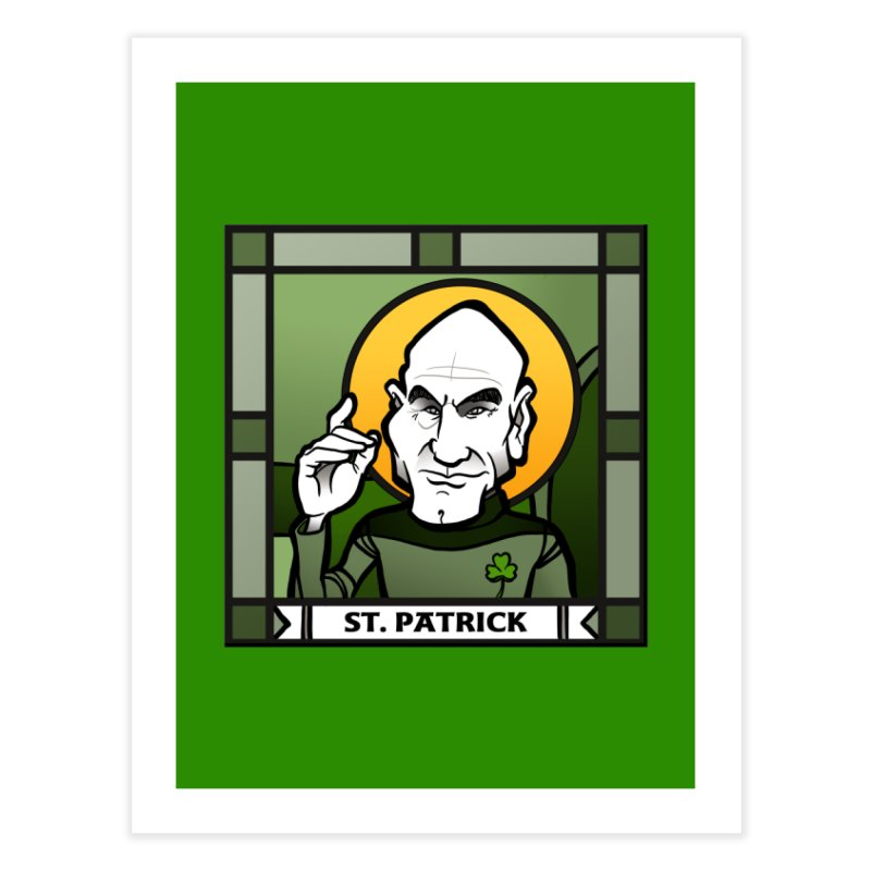 St. Patrick Home Fine Art Print by binarygod's Artist Shop