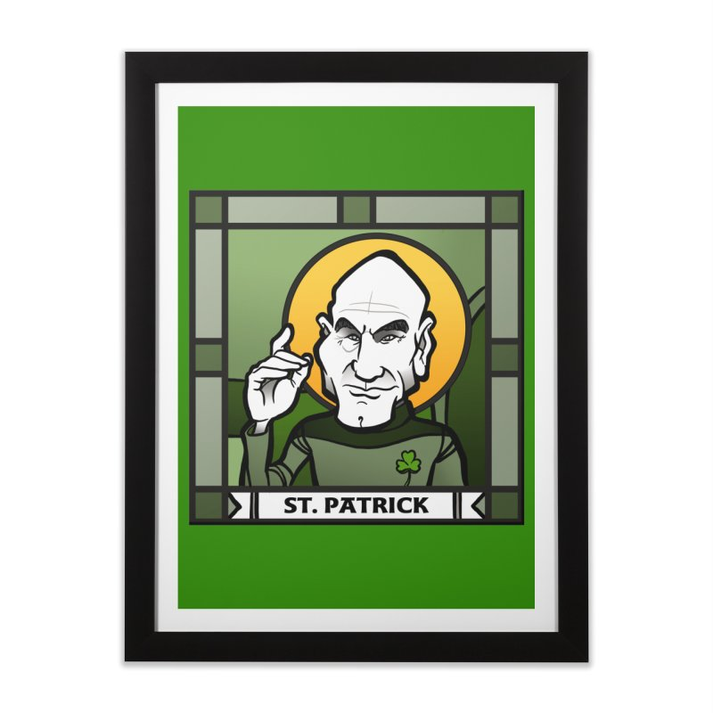 St. Patrick Home Framed Fine Art Print by binarygod's Artist Shop