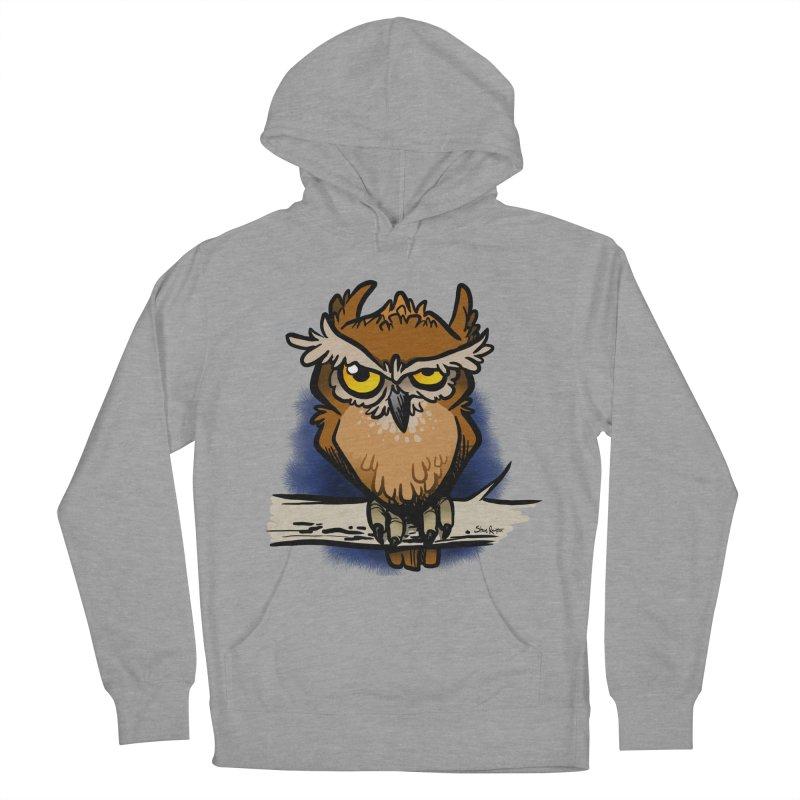 Grumpy Owl Women's Pullover Hoody by binarygod's Artist Shop