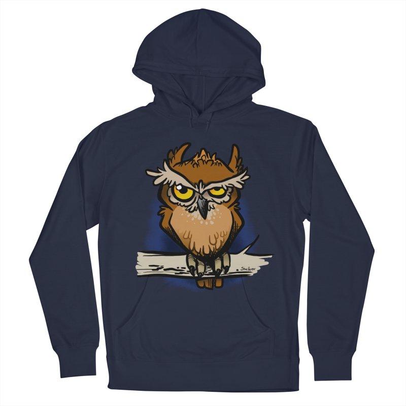 Grumpy Owl Men's Pullover Hoody by binarygod's Artist Shop