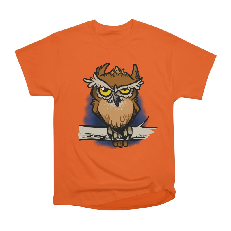 Grumpy Owl Women's T-Shirt by binarygod's Artist Shop