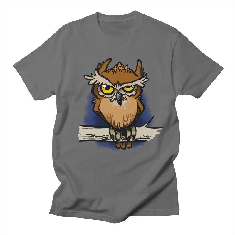 Grumpy Owl Women's T-Shirt by binarygod's Artist Shop