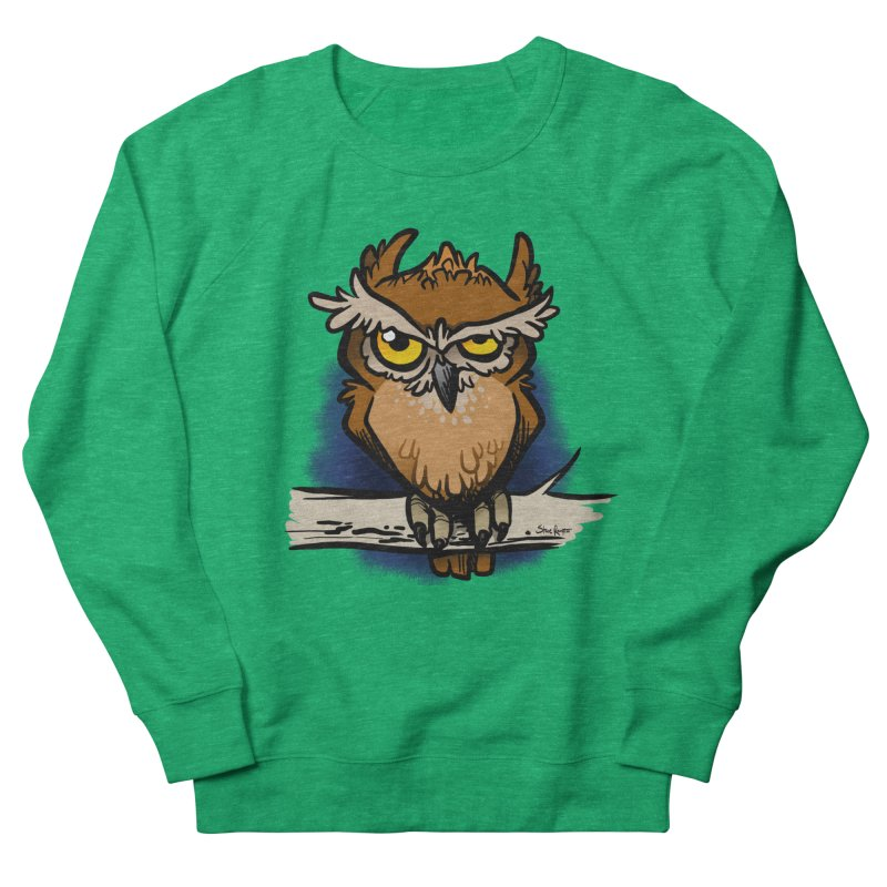 Grumpy Owl Women's Sweatshirt by binarygod's Artist Shop