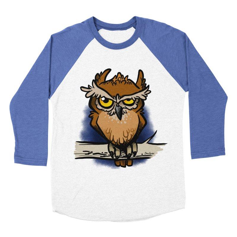 Grumpy Owl Men's Longsleeve T-Shirt by binarygod's Artist Shop