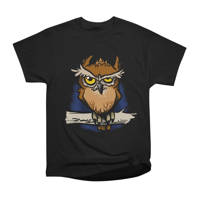 Grumpy Owl Men's Heavyweight T-Shirt by binarygod's Artist Shop
