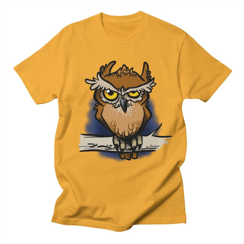 Grumpy Owl Men's T-Shirt by binarygod's Artist Shop