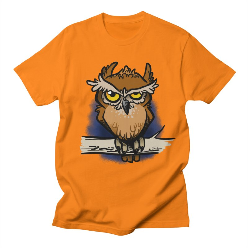 Grumpy Owl Men's T-Shirt by binarygod's Artist Shop