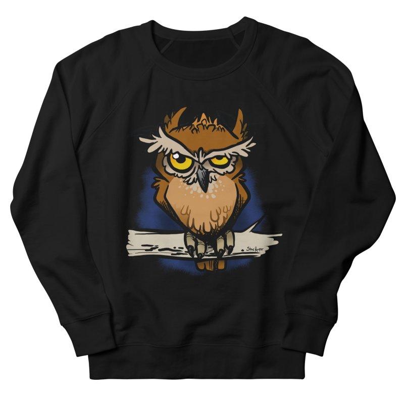 Grumpy Owl Women's Sweatshirt by binarygod's Artist Shop