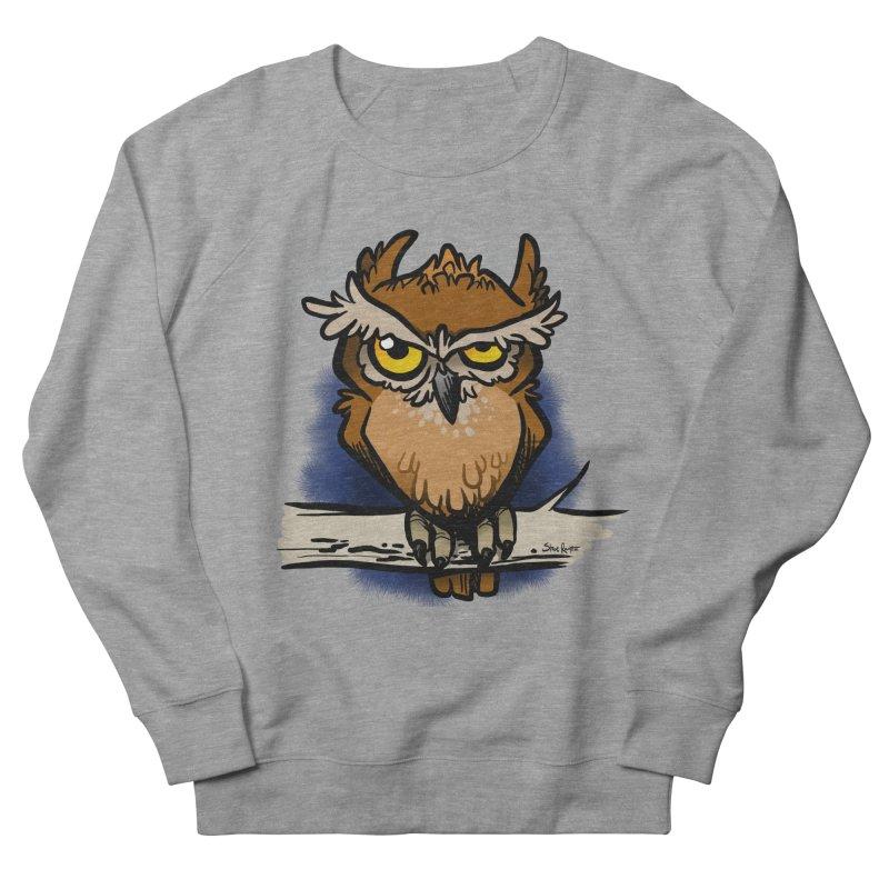 Grumpy Owl Men's French Terry Sweatshirt by binarygod's Artist Shop