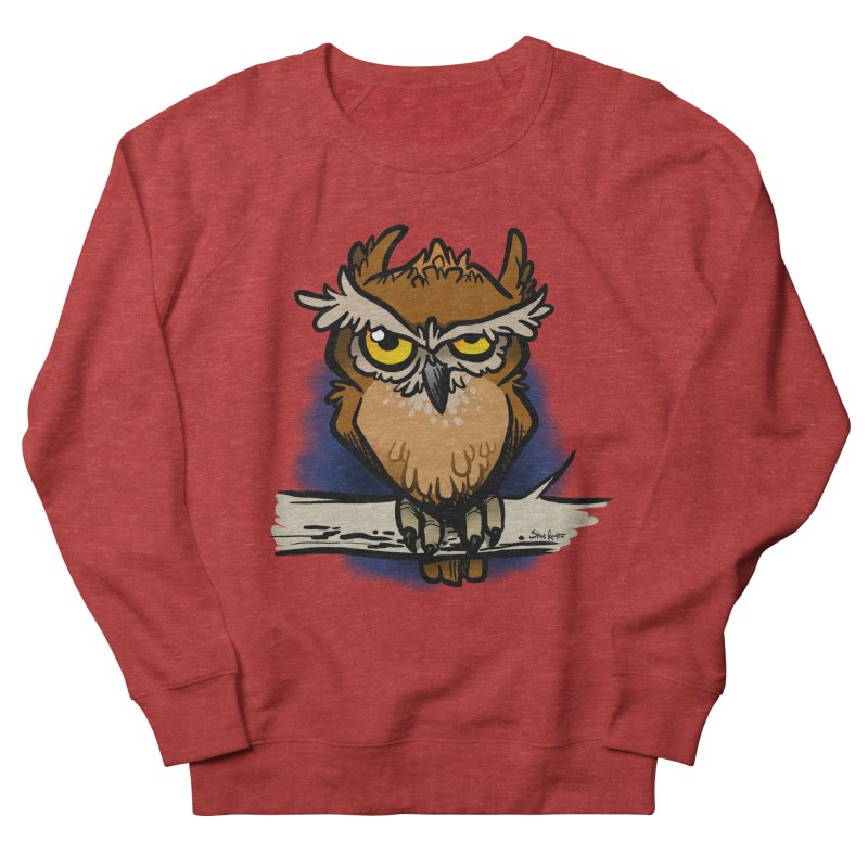 Grumpy Owl Men's Sweatshirt by binarygod's Artist Shop