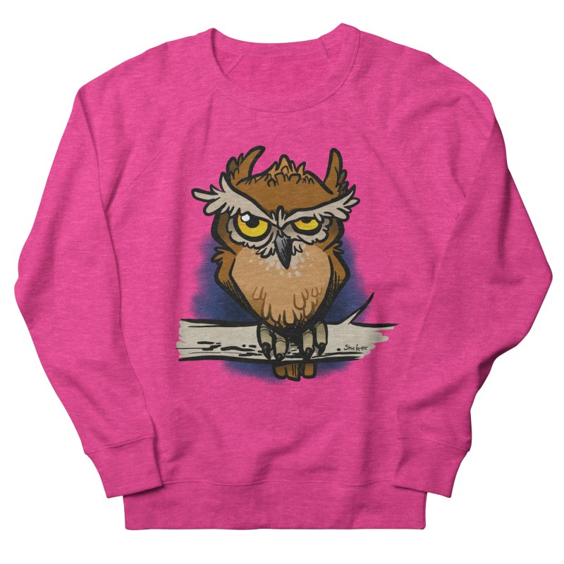 Grumpy Owl Men's Sweatshirt by binarygod's Artist Shop