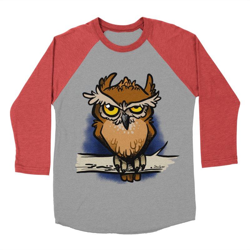 Grumpy Owl Men's Baseball Triblend T-Shirt by binarygod's Artist Shop