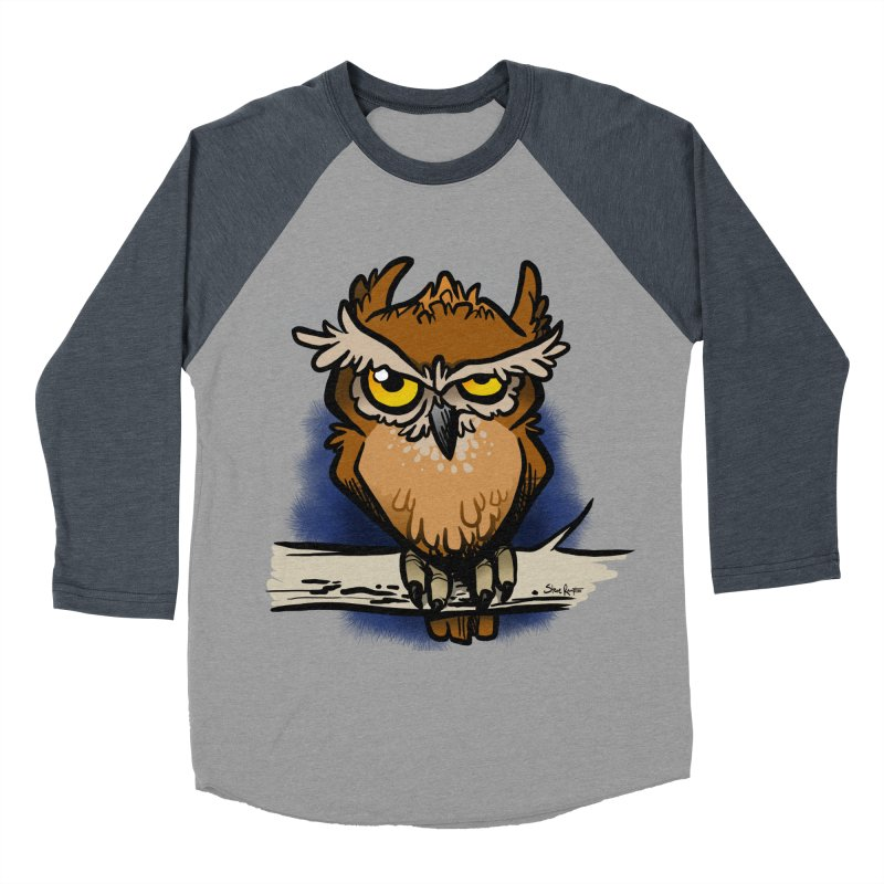 Grumpy Owl Men's Longsleeve T-Shirt by binarygod's Artist Shop