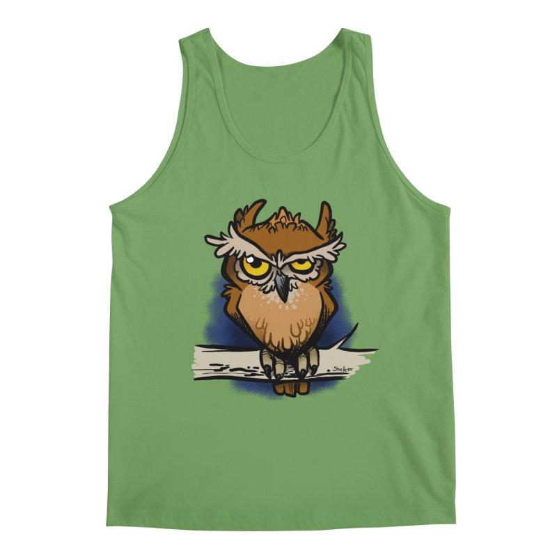 Grumpy Owl Men's Tank by binarygod's Artist Shop
