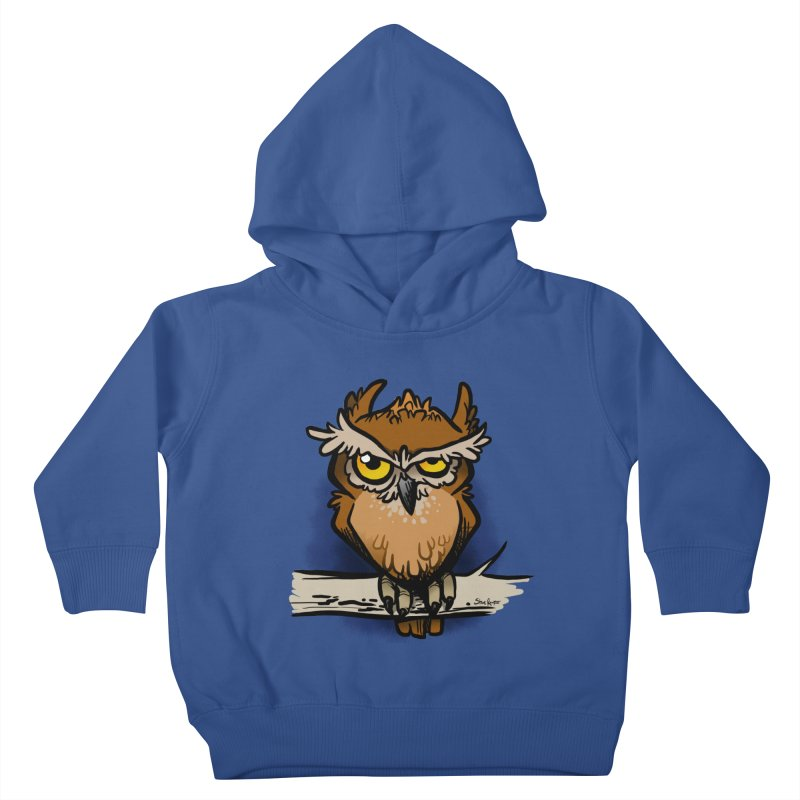 Grumpy Owl Kids Toddler Pullover Hoody by binarygod's Artist Shop