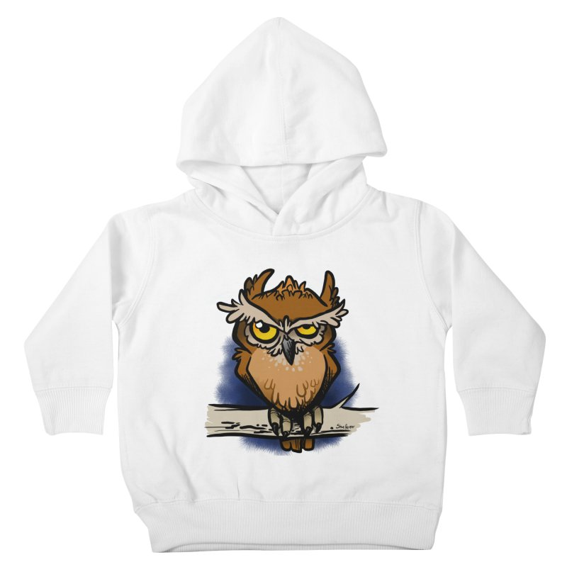 Grumpy Owl Kids Toddler Pullover Hoody by binarygod's Artist Shop