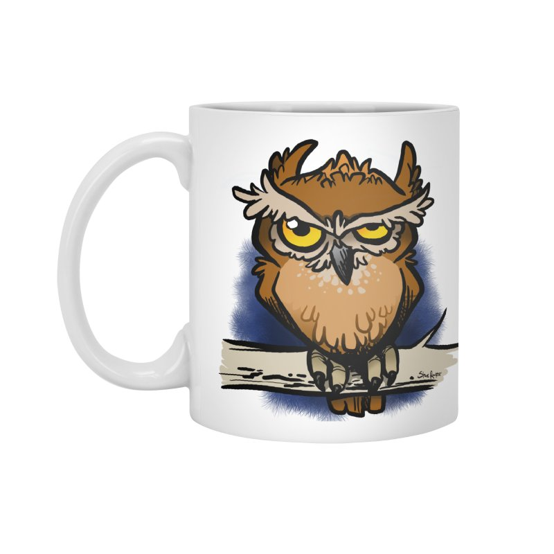 Grumpy Owl Accessories Mug by binarygod's Artist Shop