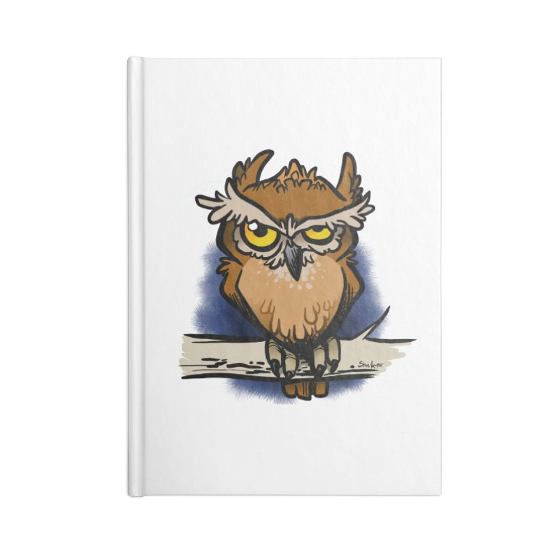 Grumpy Owl Accessories Lined Journal Notebook by binarygod's Artist Shop