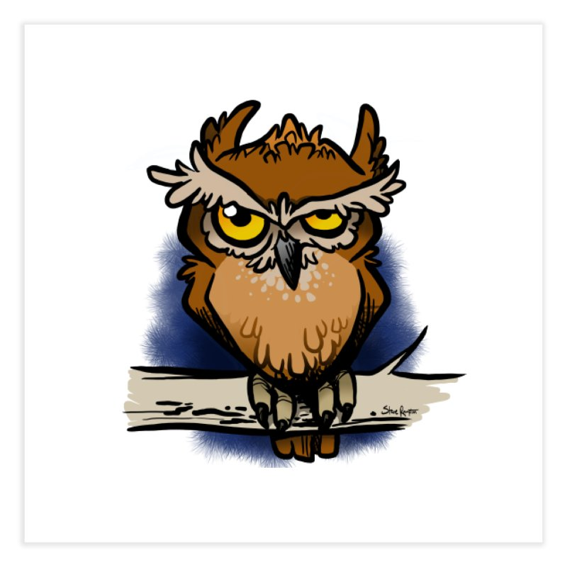 Grumpy Owl Home Fine Art Print by binarygod's Artist Shop