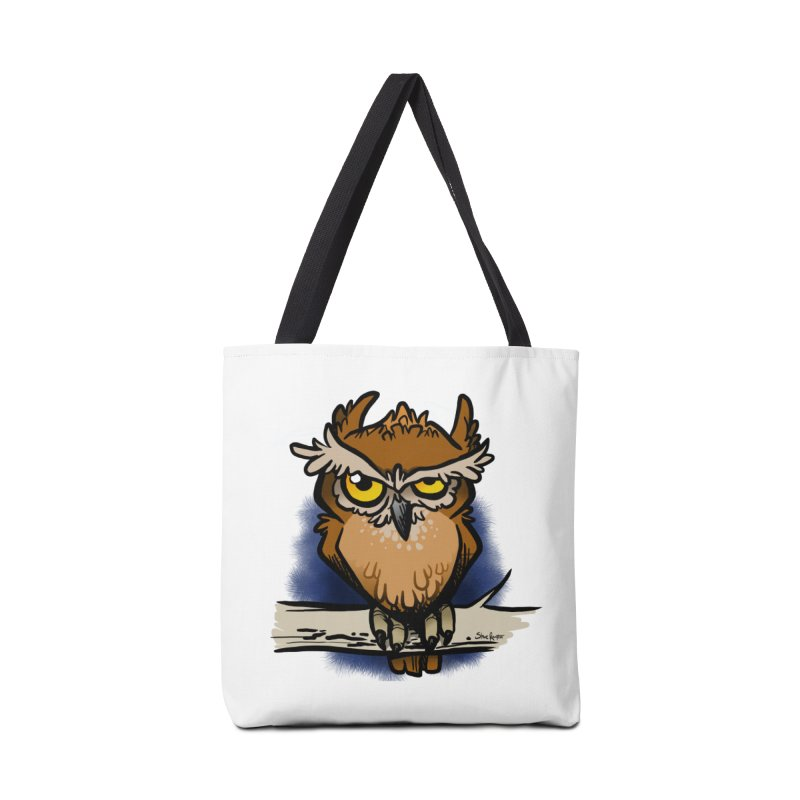 Grumpy Owl Accessories Bag by binarygod's Artist Shop