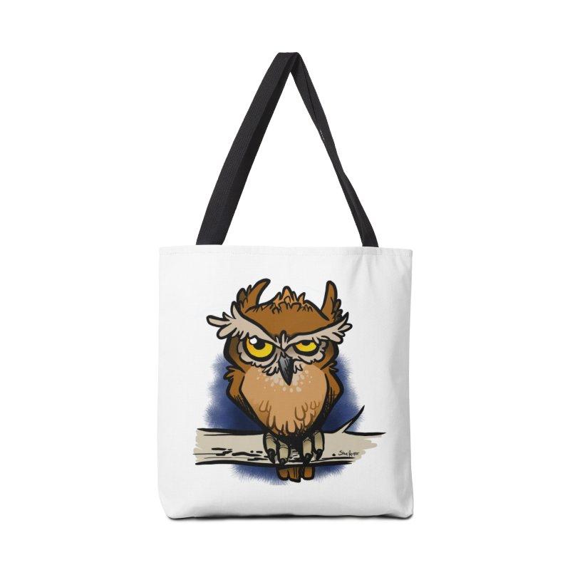 Grumpy Owl Accessories Tote Bag Bag by binarygod's Artist Shop