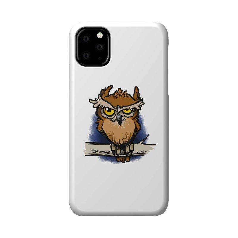 Grumpy Owl Accessories Phone Case by binarygod's Artist Shop
