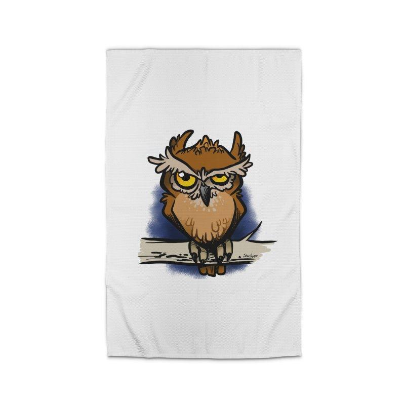 Grumpy Owl Home Rug by binarygod's Artist Shop