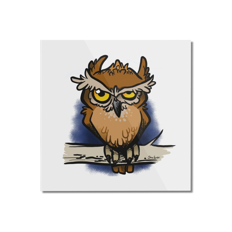 Grumpy Owl Home Mounted Acrylic Print by binarygod's Artist Shop