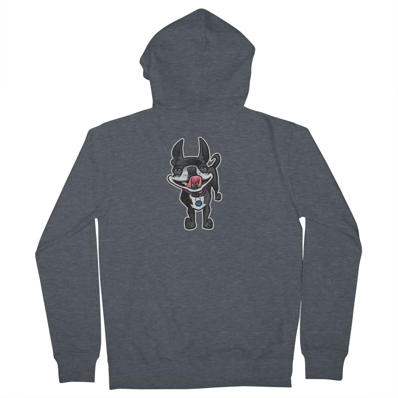Yuk, Silly Dog Women's French Terry Zip-Up Hoody by binarygod's Artist Shop