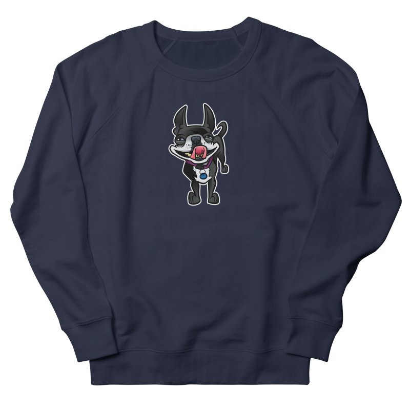 Yuk, Silly Dog Women's French Terry Sweatshirt by binarygod's Artist Shop