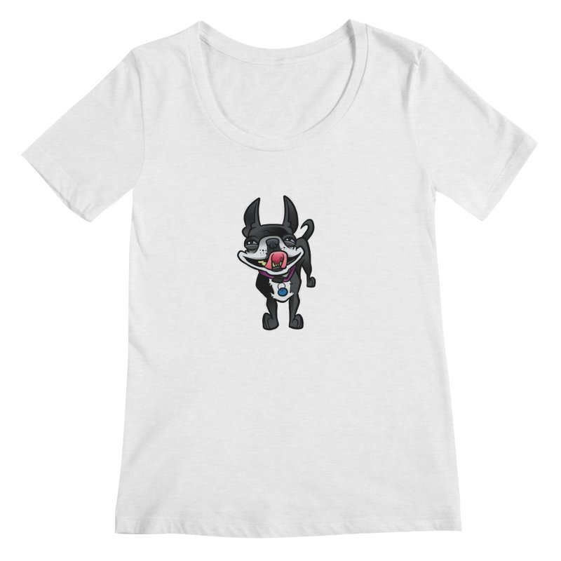 Yuk, Silly Dog Women's Scoop Neck by binarygod's Artist Shop