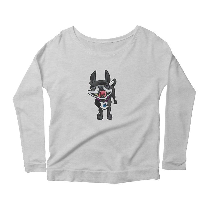 Yuk, Silly Dog Women's Scoop Neck Longsleeve T-Shirt by binarygod's Artist Shop