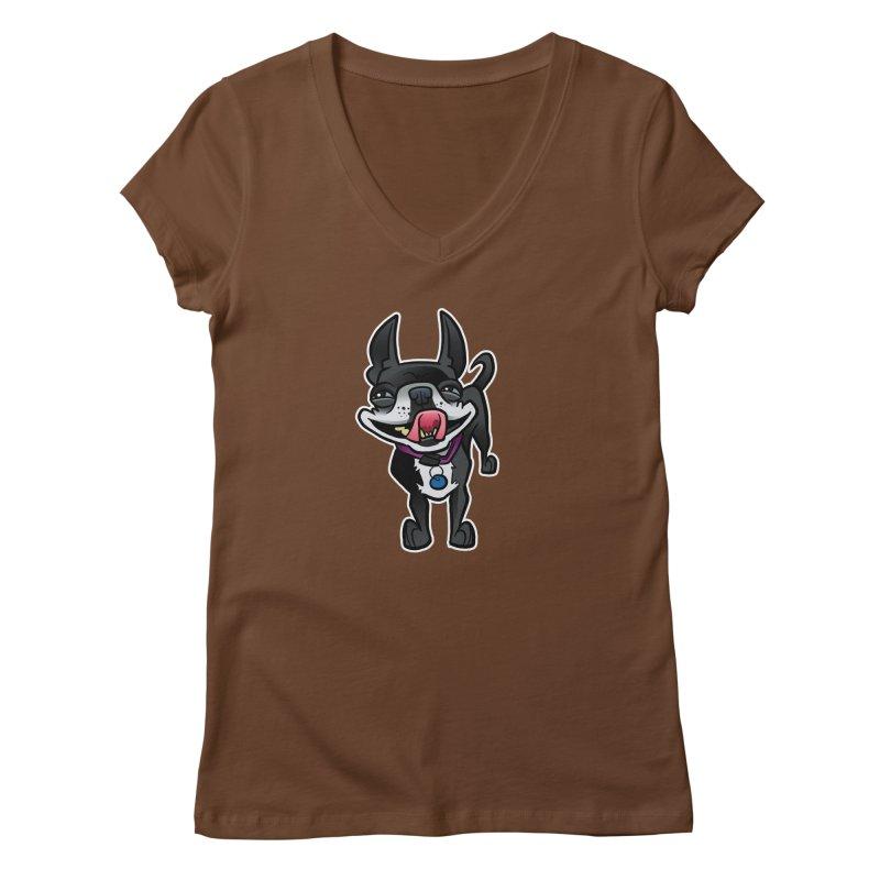 Yuk, Silly Dog Women's V-Neck by binarygod's Artist Shop