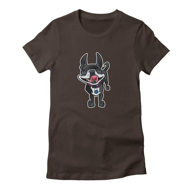Yuk, Silly Dog Women's T-Shirt by binarygod's Artist Shop