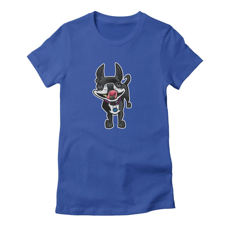 Yuk, Silly Dog Women's Fitted T-Shirt by binarygod's Artist Shop