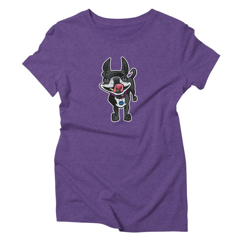 Yuk, Silly Dog Women's Triblend T-Shirt by binarygod's Artist Shop