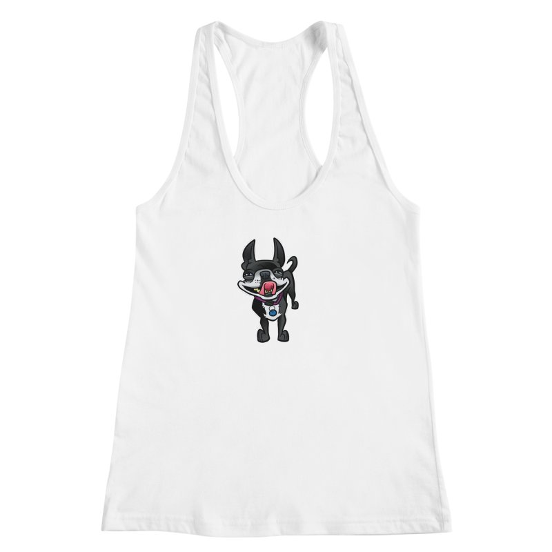 Yuk, Silly Dog Women's Racerback Tank by binarygod's Artist Shop