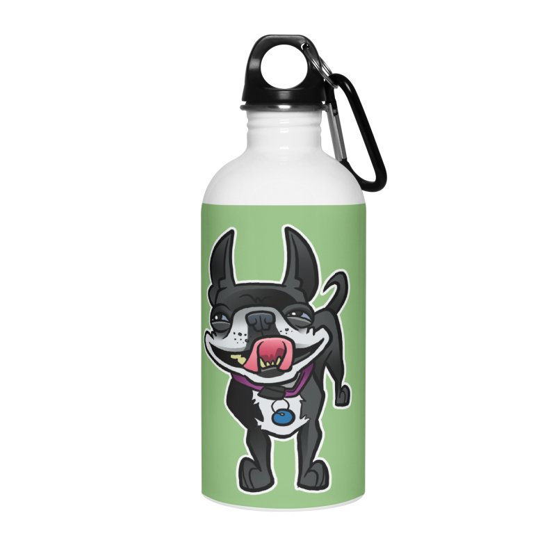 Yuk, Silly Dog Accessories Water Bottle by binarygod's Artist Shop
