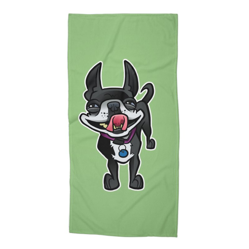Yuk, Silly Dog Accessories Beach Towel by binarygod's Artist Shop