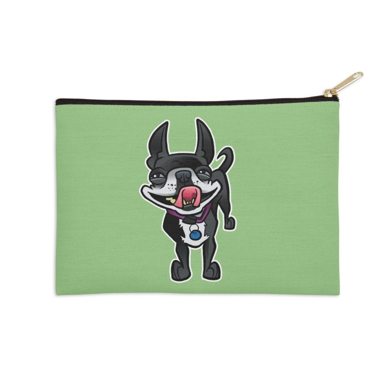 Yuk, Silly Dog Accessories Zip Pouch by binarygod's Artist Shop