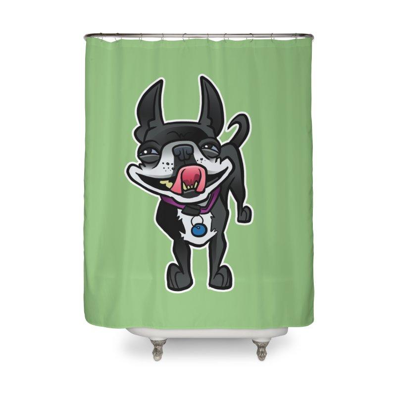 Yuk, Silly Dog Home Shower Curtain by binarygod's Artist Shop