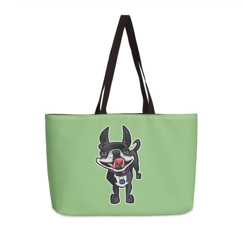 Yuk, Silly Dog Accessories Weekender Bag Bag by binarygod's Artist Shop