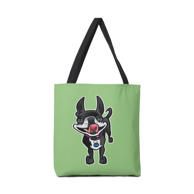 Yuk, Silly Dog Accessories Tote Bag Bag by binarygod's Artist Shop