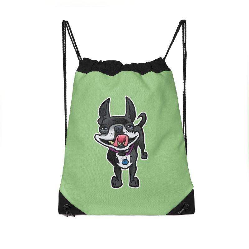 Yuk, Silly Dog Accessories Drawstring Bag Bag by binarygod's Artist Shop