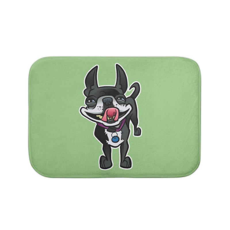 Yuk, Silly Dog Home Bath Mat by binarygod's Artist Shop